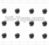 HBX 12885 Iron Hammer Parts-Set Screw(12pcs)-3X3mm Parts-S016,HaiBoxing HBX 12885 Iron Hammer RC Car Spare Parts