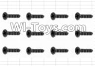 HBX 12885 Iron Hammer Parts-Countersunk Self Tapping Screw(12pcs)-2.6X6mm Parts-S061,HaiBoxing HBX 12885 Iron Hammer RC Car Spare Parts