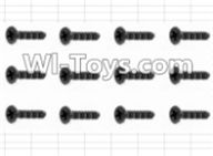 HBX 12885 Iron Hammer Parts-Countersunk Screw(12pcs)-3X10mm PartsS062,HaiBoxing HBX 12885 Iron Hammer RC Car Spare Parts