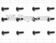 HBX 12885 Iron Hammer Parts-Round Head Self Tapping Screw(12pcs)-3X6mm Parts-S071,HaiBoxing HBX 12885 Iron Hammer RC Car Spare Parts
