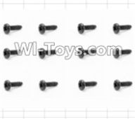 HBX 12885 Iron Hammer Parts-Round Head Self Tapping Screw(12pcs)-2.6X6mm Parts-S089,HaiBoxing HBX 12885 Iron Hammer RC Car Spare Parts