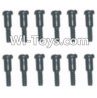 HBX 12885 Iron Hammer Parts-Step Screws(12pcs)-3.5X4.5-3X4.6mm Parts-S152,HaiBoxing HBX 12885 Iron Hammer RC Car Spare Parts
