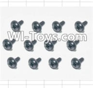 HBX 12885 Iron Hammer Parts-Flange Head Self Tapping Screws(12pcs)-2.6X8mm Parts-S160,HaiBoxing HBX 12885 Iron Hammer RC Car Spare Parts
