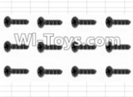 HBX 12885 Iron Hammer Parts-Countersunk Self Tapping Screw(12pcs)-2.6X18mm Parts-S162,HaiBoxing HBX 12885 Iron Hammer RC Car Spare Parts