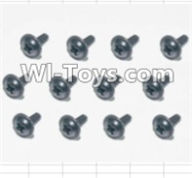 HBX 12885 Iron Hammer Parts-Flange Head Self Tapping Screws(12pcs)-2X6mm Parts-S164,HaiBoxing HBX 12885 Iron Hammer RC Car Spare Parts