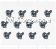 HBX 12885 Iron Hammer Parts-Flange Head Self Tapping Screws(12pcs)-2.3X8mm Parts-S167,HaiBoxing HBX 12885 Iron Hammer RC Car Spare Parts