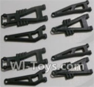 HBX 12891 Parts-Front And Rear Suspension Arms,Front And Rear Swing Arm(Total 8PCS) Parts-12603,1/12 HaiBoXing HBX 12891 Dune ThunderRC Truck Parts