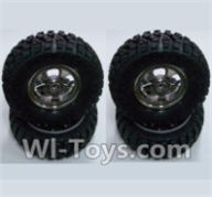 HBX 12891 Dune Thunder Parts-Wheels Complete (4PCS) Parts-12662,1/12 HaiBoXing HBX 12891 Dune ThunderRC Truck Parts