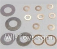 HBX 12891 Dune Thunder Parts-Washers-4PCS(φ6.3X12.5X0.2mm) & Washers-8PCS(φ2.7X5.5X0.3mm) & Washers-2PCS(φ8.2X10.5X0.3mm) Parts-12617,1/12 HaiBoXing HBX 12891 Dune ThunderRC Truck Parts