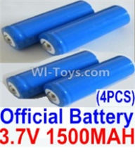 HBX 12891 Parts-Official 3.7V 1500mAH Battery(Li-ion Batteries)-4pcs Parts-12633,1/12 HaiBoXing HBX 12891 Dune ThunderRC Truck Parts