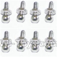 HBX 12891 Dune Thunder Parts-Ball Studs(8pcs) Parts-H013,1/12 HaiBoXing HBX 12891 Dune ThunderRC Truck Parts