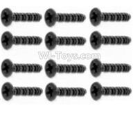 HBX 12891 Dune Thunder Parts-Round Head Self Tapping Screw-2.6X15mm(12PCS) Parts-S107,1/12 HaiBoXing HBX 12891 Dune ThunderRC Truck Parts