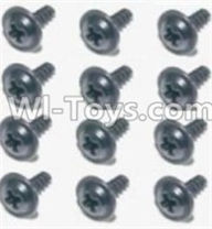 HBX 12891 Parts-Flange Head Self Tapping Screws 2.6X8mm(12PCS) Parts-S160,1/12 HaiBoXing HBX 12891 Dune ThunderRC Truck Parts