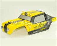 HBX 12891 Body shell cover-Desert Truck Shell,Car shell-Yellow 891-B001,1/12 HaiBoXing HBX 12891 Dune ThunderRC Truck Parts