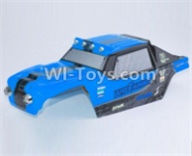 HBX 12891 Parts-Body shell cover-Desert Truck Shell,Car shell-Blue Parts-891-B003,1/12 HaiBoXing HBX 12891 Dune ThunderRC Truck Parts