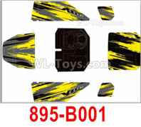 HBX 12895 Parts-Body Shell Cover, It incnludes the Car Body and Decals. 895-B001