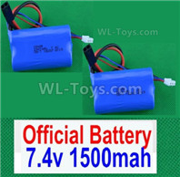 HBX 12895 Parts-Lipo Batteries Packs. total 2pcs. 7.4V 1500MAH Lipo Battery-12225