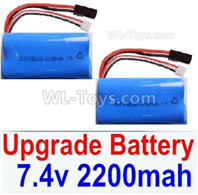 HBX 12895 TRANSIT Parts-Upgrade Lipo Batteries Packs. total 2pcs. 7.4V 22000MAH Lipo Battery. 12225