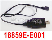 HBX 12895 Parts-USB Charger,Can charge on the Compnuter. 18859E-E001