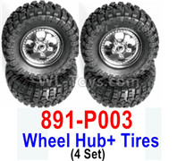 HBX 12895 Parts-Wheels Complete. It includes the 4 set Wheels and Tires. 891-P003