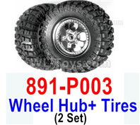 HBX 12895 Parts-Wheels Complete. It includes the 2 set Wheels and Tires. 891-P003
