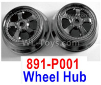 HBX 12895 Parts-Wheel Rims, Wheel Hubs, Total 2pcs. Not include the Tires. 891-P001