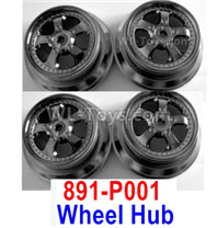 HBX 12895 Parts-Wheel Rims, Wheel Hubs, Total 4pcs. Not include the Tires. 891-P001