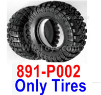 HBX 12895 Parts-Tires + Insert, Tires Skins, Total 2pcs. Not include the Wheel Rims. 891-P002