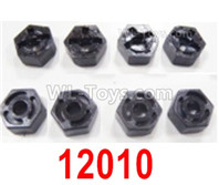 HBX 12895 Parts-Wheel Hex seat for the Wheels. Wheel Fixed seat, Total 8pcs. 12010