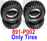 HBX 12895 Parts-Tires + Insert, Tires Skins, Total 4pcs. Not include the Wheel Rims. 891-P002