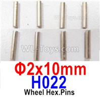 HBX 12895 Parts-Wheel Pin for the Wheels. Φ2X10mm, Total 8pcs. H022