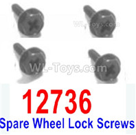 HBX 12895 Replace Accessories-Spare Wheel Lock Screws. 12736
