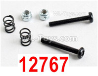 HBX 12895 Parts-Front Bumper Post + Buffer Springs + Lock Nuts. 12767