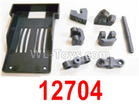 HBX 12895 Parts-Battery Tray and Holders. 12704