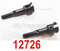 HBX 12895 Parts-Wheel Shafts, cup-shape shaft for the front Wheel, Total 2pcs. 12726