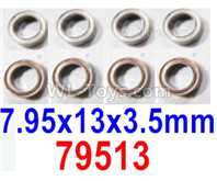 HBX 12895 Parts-ball bearings. The size is 7.95x13x3.5mm. Total 8pcs. 79513