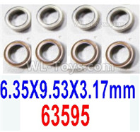 HBX 12895 Parts-Ball Bearings. The size is 6.35x9.53x3.17mm. Total 8pcs. 63595