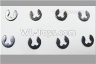 HBX 12895 Parts-4mm E-Clips, Total 8pcs. H152
