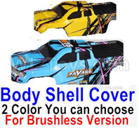 HBX 16889 Body Shell Cover-1pcs-2 Color you can choose(For Brushless Version),HaiBoXing HBX 16889 Parts,HBX 1/16 Car Parts