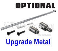 SG 1601 SG1601 Parts Upgade Metal Heavy Duty Center Drive Shaft+Outdrive Cups+Pins+Screws (suited for metal spur gear version)-M16101