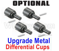 SG 1601 SG1601 Parts Upgrade Metal Differential Outdrive Cups + Pins-M16104, SG 1/16 Car Parts