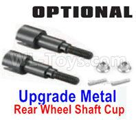 HBX 16889 RAVAGE Parts-Upgrade Metal Rear Wheel Shafts+Pins+Lock Nut M4-M16107,HaiBoXing 1/16 Car Parts