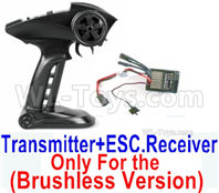 SG 1601 SG1601 Parts Transmitter, 2.4Ghz Radio+ ESC Receiver board (Only for Brushless Car)-12670, SG 1/16 Car Parts