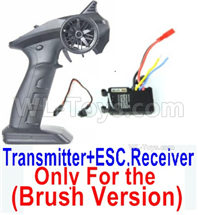 SG 1601 SG1601 Parts Transmitter, 2.4Ghz Radio+ ESC Receiver board (Only for Brush Car)-12670, SG 1/16 Car Parts
