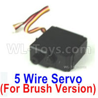 SG 1601 SG1601 Parts Servo (5-wire)-Only for the Brush Version-M16033, SG 1/16 Car Parts