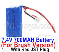 SG 1601 SG1601 Parts Battery Pack, 7.4v 700mah Li-ion Battery, With Red JSt Plug-M16037, SG 1/16 Car Parts