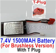 SG 1601 SG1601 Parts 7.4V 1500mAH 25C LIPO Battery-T Plug, Only for the Brushless version-M16151, SG 1/16 Car Parts