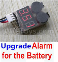 SG 1601 SG1601 Parts Upgrade Alarm for the Battery, Can test whether your battery has enouth power, SG 1/16 Car Parts