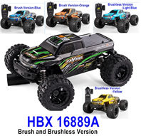 HBX 16889 RC Car,HBX 16889 RAVAGE RC Truck,1/16 Brush and Brushless Version You can choose