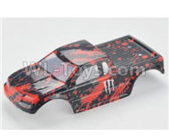 HBX Rampage 18859E Body shell,RC Car shell-Red PartsB001,HaiBoXing Rampage 18859E RC Car Spare Parts 1/18